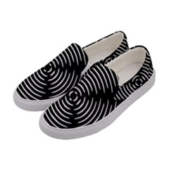 Gold Wave Seamless Pattern Black Hole Women s Canvas Slip Ons by Mariart
