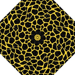 Skin1 Black Marble & Yellow Colored Pencil Hook Handle Umbrellas (large) by trendistuff
