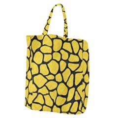 Skin1 Black Marble & Yellow Colored Pencil (r) Giant Grocery Zipper Tote by trendistuff