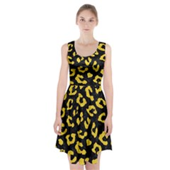 Skin5 Black Marble & Yellow Colored Pencil Racerback Midi Dress by trendistuff