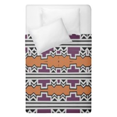 Purple And Brown Shapes                                   Duvet Cover (single Size) by LalyLauraFLM