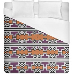 Purple And Brown Shapes                                   Duvet Cover (king Size) by LalyLauraFLM