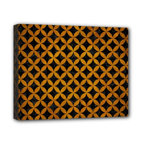 Circles3 Black Marble & Yellow Grunge (r) Canvas 10  X 8  by trendistuff