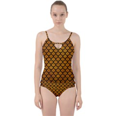 Scales1 Black Marble & Yellow Grunge Cut Out Top Tankini Set