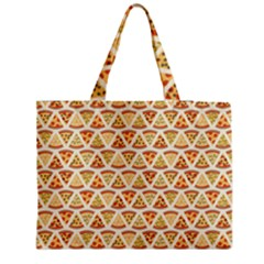 Food Pizza Bread Pasta Triangle Medium Tote Bag by Mariart