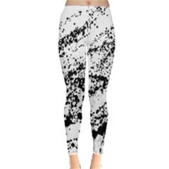 Ink Splatter Texture Leggings  by Mariart