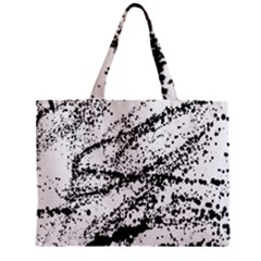 Ink Splatter Texture Zipper Mini Tote Bag by Mariart