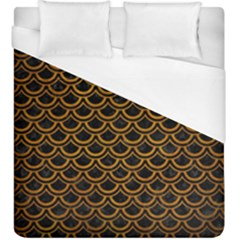 Scales2 Black Marble & Yellow Grunge (r) Duvet Cover (king Size) by trendistuff