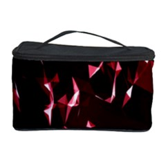 Lying Red Triangle Particles Dark Motion Cosmetic Storage Case by Mariart
