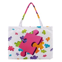 Passel Picture Green Pink Blue Sexy Game Medium Tote Bag by Mariart