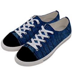 Forest Tree Night Blue Black Man Women s Low Top Canvas Sneakers by Mariart