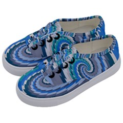Psycho Hole Chevron Wave Seamless Kids  Classic Low Top Sneakers by Mariart
