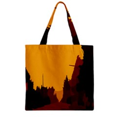 Road Trees Stop Light Richmond Ace Zipper Grocery Tote Bag by Mariart