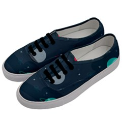 Space Pelanet Galaxy Comet Star Sky Blue Men s Classic Low Top Sneakers by Mariart
