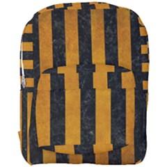 Stripes1 Black Marble & Yellow Grunge Full Print Backpack by trendistuff