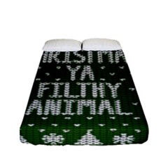 Ugly Christmas Sweater Fitted Sheet (full/ Double Size) by Valentinaart