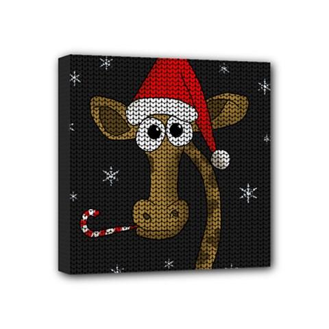 Christmas Giraffe  Mini Canvas 4  X 4  by Valentinaart