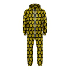 Scales3 Black Marble & Yellow Leather Hooded Jumpsuit (kids) by trendistuff