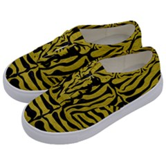 Skin2 Black Marble & Yellow Leather Kids  Classic Low Top Sneakers by trendistuff