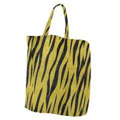 Skin3 Black Marble & Yellow Leather Giant Grocery Zipper Tote by trendistuff