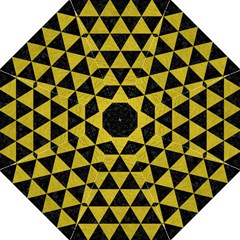 Triangle3 Black Marble & Yellow Leather Hook Handle Umbrellas (large) by trendistuff