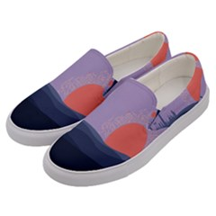 Wedding Lavender Moon Romantic Natural Men s Canvas Slip Ons by Mariart