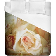 Roses Vintage Playful Romantic Duvet Cover (california King Size) by Celenk