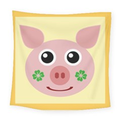 Luck Lucky Pig Pig Lucky Charm Square Tapestry (large) by Celenk