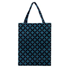 Circles3 Black Marble & Teal Leather Classic Tote Bag by trendistuff