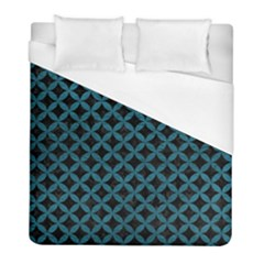 Circles3 Black Marble & Teal Leather (r) Duvet Cover (full/ Double Size) by trendistuff