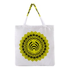Bassnectar Sunflower Grocery Tote Bag by Celenk