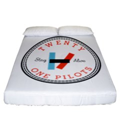 Twenty One Pilots Fitted Sheet (california King Size) by Celenk