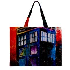 Dr Who Tardis Painting Zipper Mini Tote Bag by Celenk