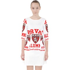 Harvard Alumni Just Kidding Pocket Dress by Celenk