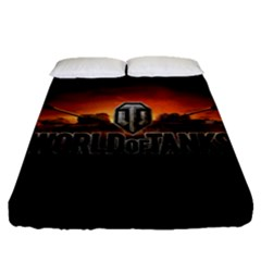 World Of Tanks Fitted Sheet (queen Size) by Celenk