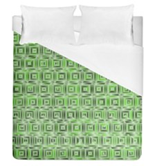 Classic Blocks,green Duvet Cover (queen Size) by MoreColorsinLife