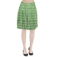 Classic Blocks,green Pleated Skirt by MoreColorsinLife