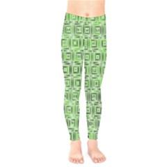 Classic Blocks,green Kids  Legging by MoreColorsinLife