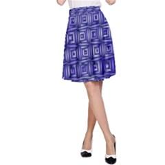 Classic Blocks,blue A Line Skirt by MoreColorsinLife