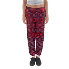 Classic Blocks,red Women s Jogger Sweatpants by MoreColorsinLife