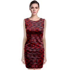 Classic Blocks,red Sleeveless Velvet Midi Dress by MoreColorsinLife