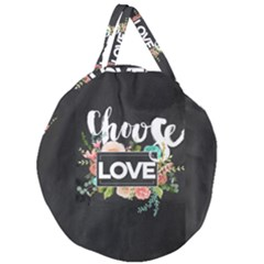 Love Giant Round Zipper Tote by 8fugoso