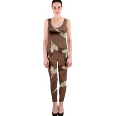 Chocolate Brown Kaleidoscope Design Star Onepiece Catsuit by yoursparklingshop