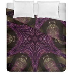 Pink Purple Kaleidoscopic Design Duvet Cover Double Side (california King Size) by yoursparklingshop