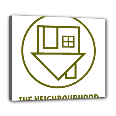 The Neighbourhood Logo Deluxe Canvas 24  X 20   by Celenk