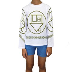 The Neighbourhood Logo Kids  Long Sleeve Swimwear by Celenk