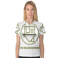 The Neighbourhood Logo V Neck Sport Mesh Tee by Celenk