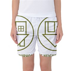 The Neighbourhood Logo Women s Basketball Shorts by Celenk