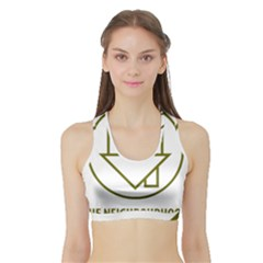 The Neighbourhood Logo Sports Bra With Border by Celenk