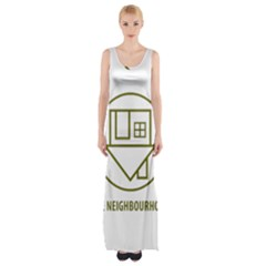 The Neighbourhood Logo Maxi Thigh Split Dress by Celenk